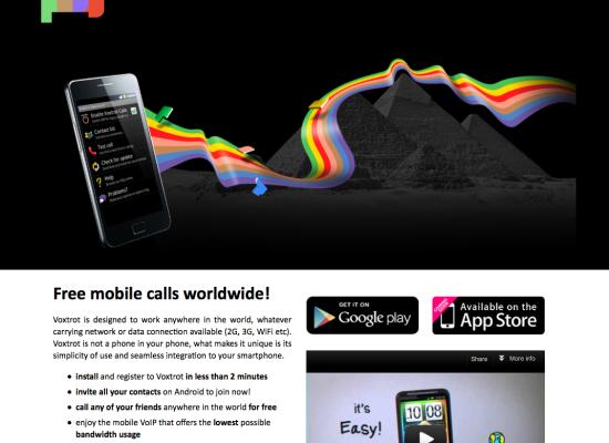 Voxtrot Site design