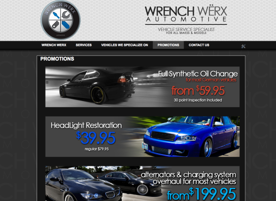 Wrench Werx Site design and layout