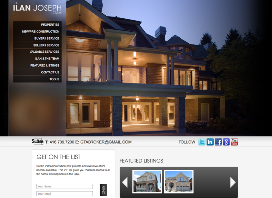 Ilan Joseph Site design and layout
