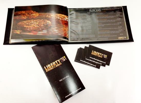 Liberty Burger Menu and Branding Package