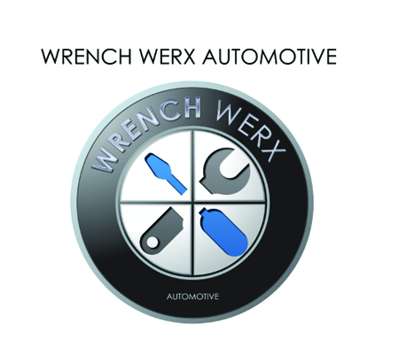 Wrench Werx Automotive Logo Design